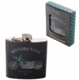 Retro Motorcycle Hip Flask